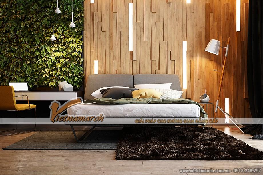 Thiết kế nội thất phòng ngủ với chủ đề sinh thái