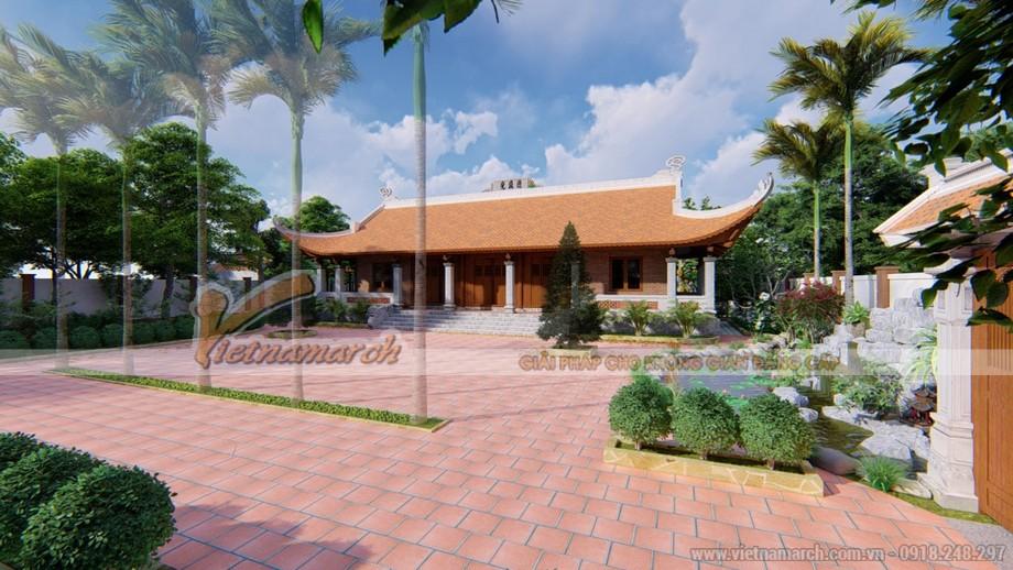 Tổng thể kiến trúc và địa thế phong thủy của nhà thờ 5 gian họ Nguyễn ở Đông Hưng - Thái Bình
