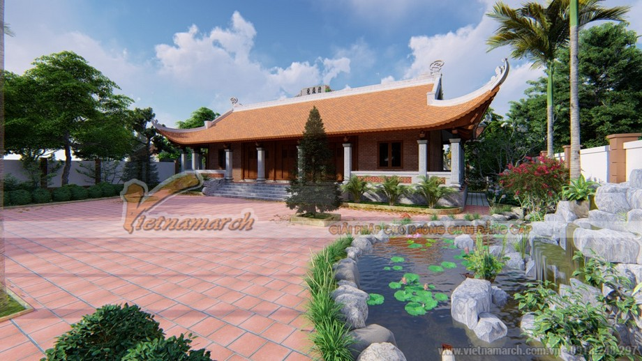 Thiết kế nhà thờ họ 5 gian tại Thái Bình