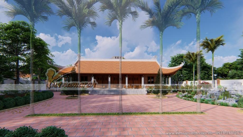 Thiết kế nhà thờ họ Nguyễn rộng lớn với kiến trúc mang dáng dấp truyền thống Bắc Bộ