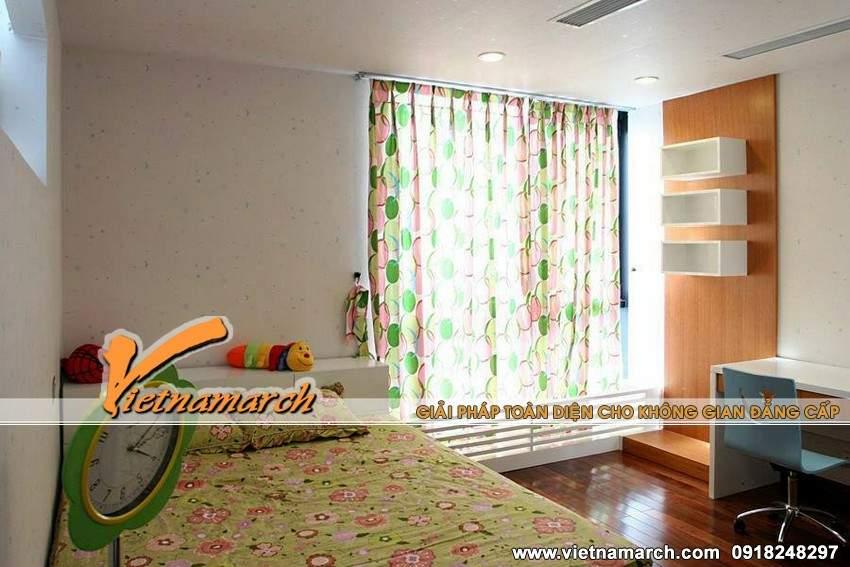 Phòng ngủ cho con nhiều màu sắc sống động