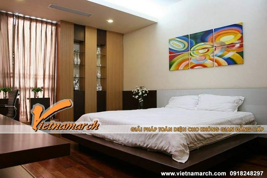 Phòng ngủ Master nhẹ nhàng nhưng không hề đơn điệu