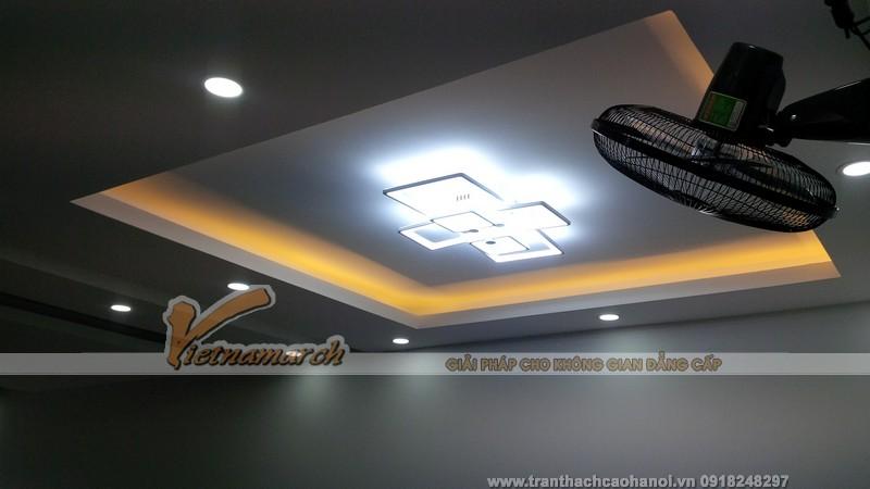 Hệ trần nhà chú Thái đẹp lung linh sau khi hoàn thành