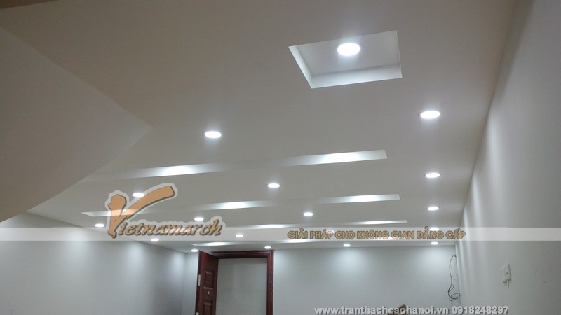 Hoàn thiện trần thạch cao và đèn led âm trần