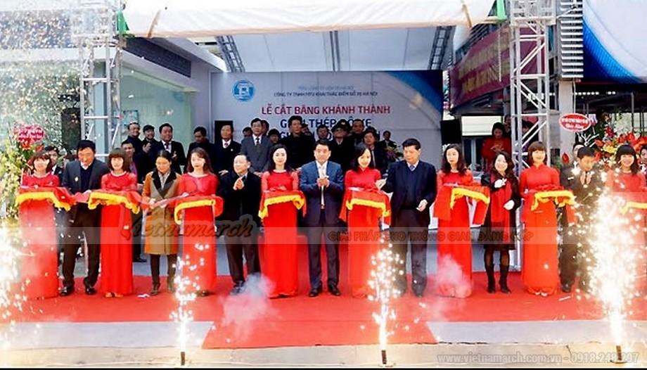 Lễ khánh thành gian thep do xe cao tang Nguyễn Công Hoan
