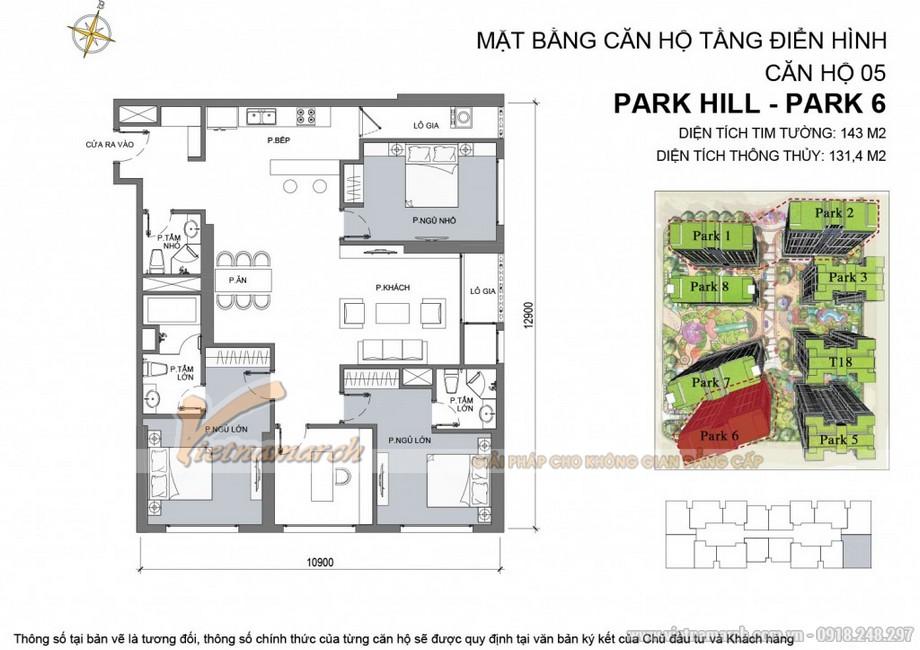 Căn hộ Park 6 - 05 chung cư Park Hill Times City