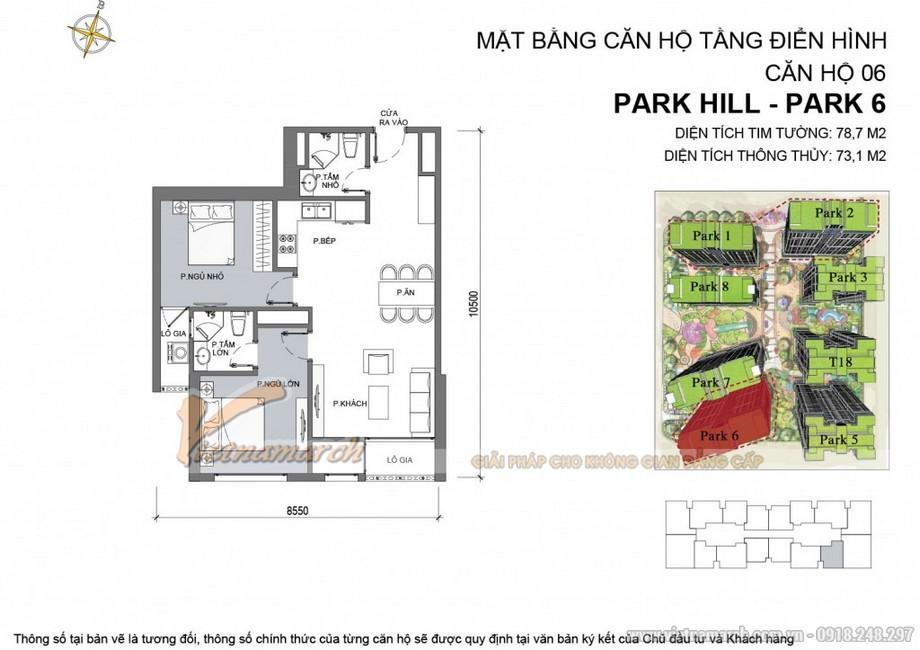 Căn hộ Park 6 - 06 chung cư Park Hill Times City