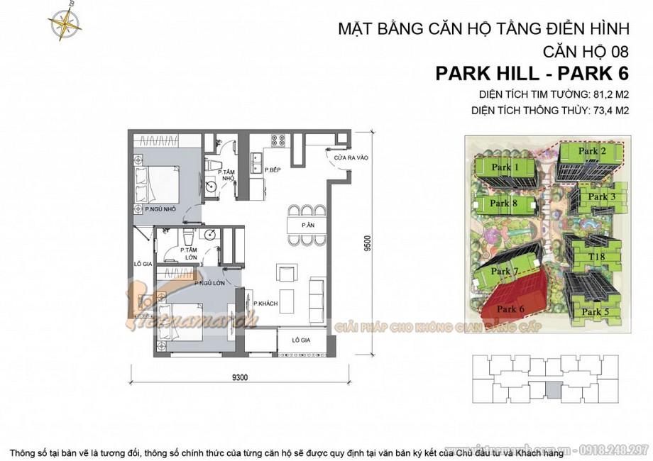 Căn hộ Park 6 - 08 chung cư Park Hill Times City