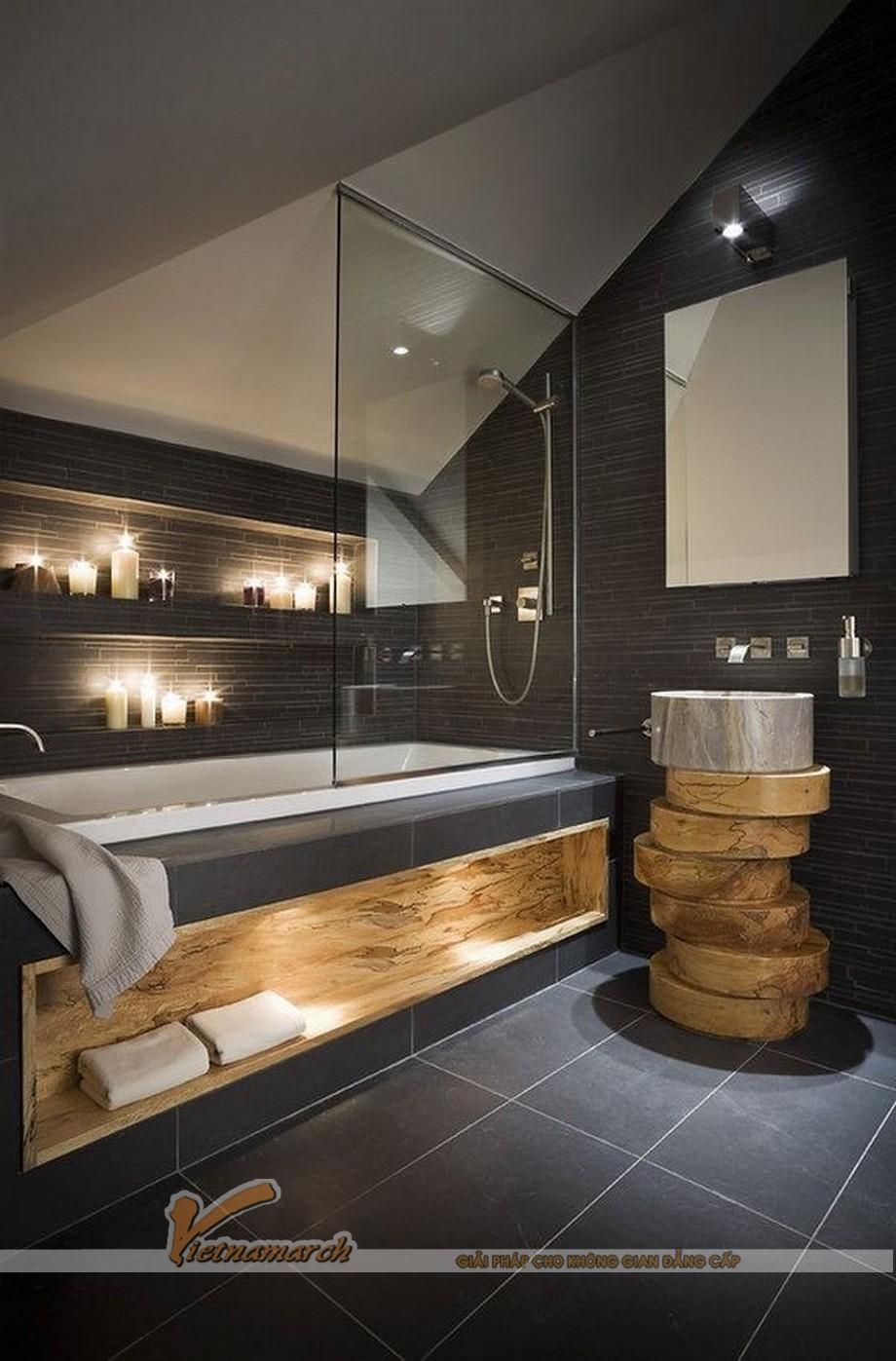 Phòng tắm độc đáo và mới mẻ
