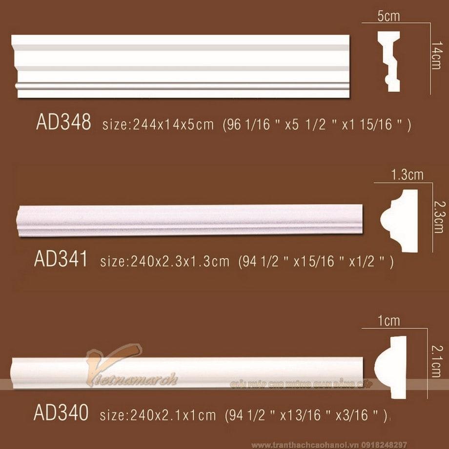 Mẫu phào trơn được sử dụng nhiều để trang trí trần, tường nhà