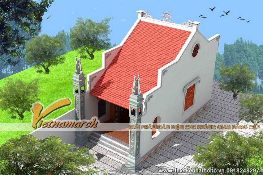 Phối cảnh xung quanh của nhà thờ họ ở Tiền Hải - Thái Bình
