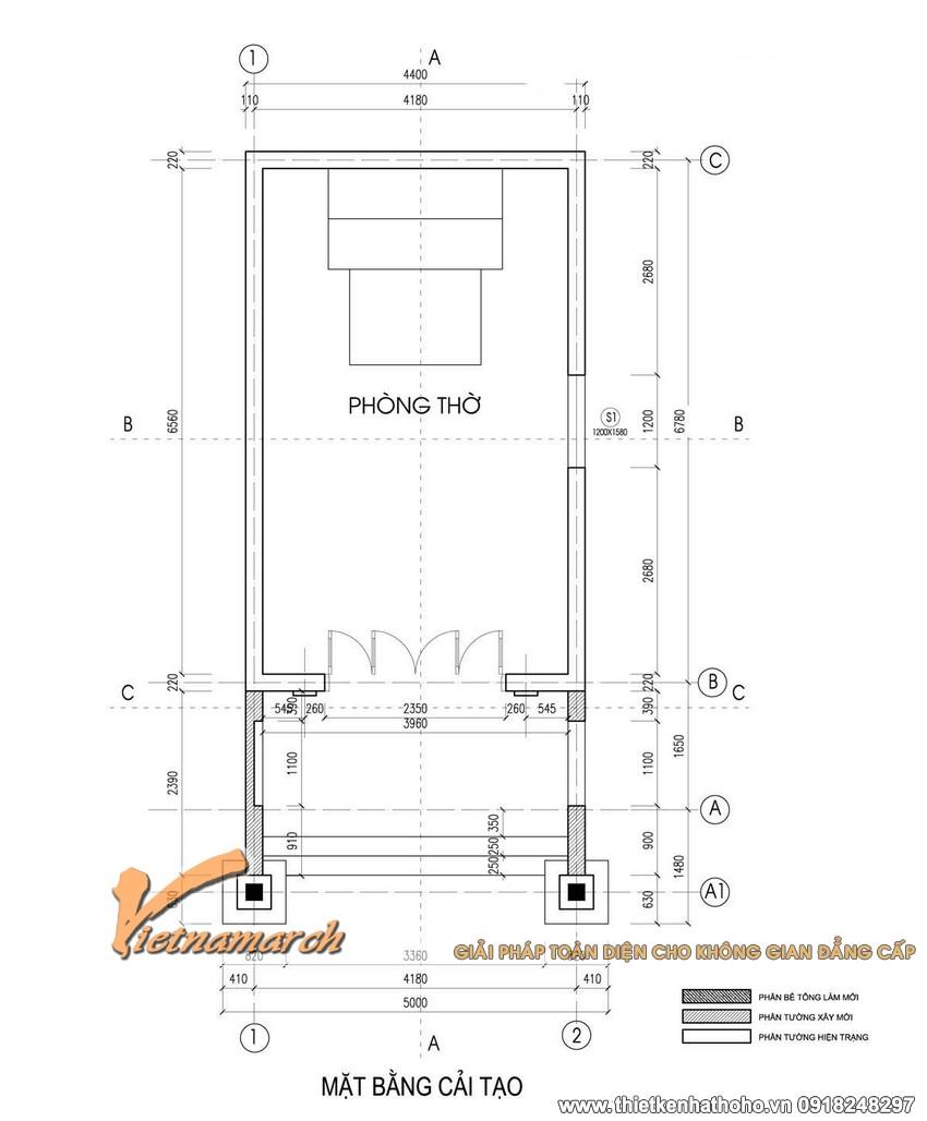 Bản thiết kế nhà thờ họ của bác Vinh ở Tiền Hải - Thái Bình