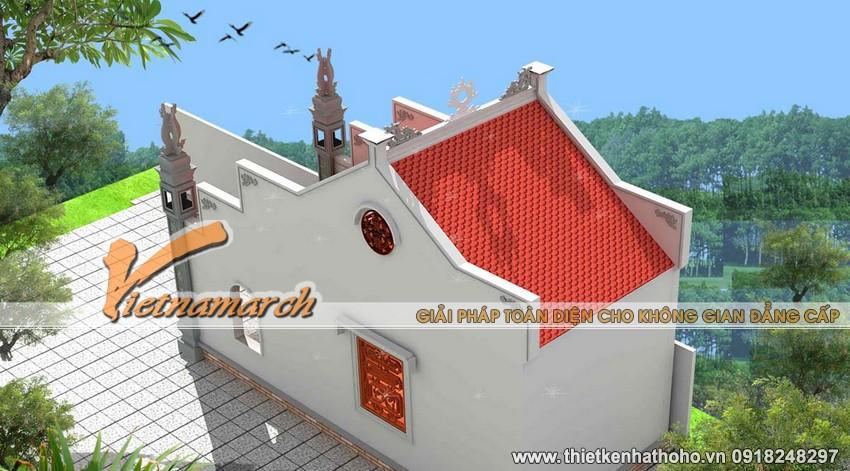 Thiết kế nhà thờ họ của bác Vinh hiện đại nhưng vẫn giữ nét truyền thống Việt Nam