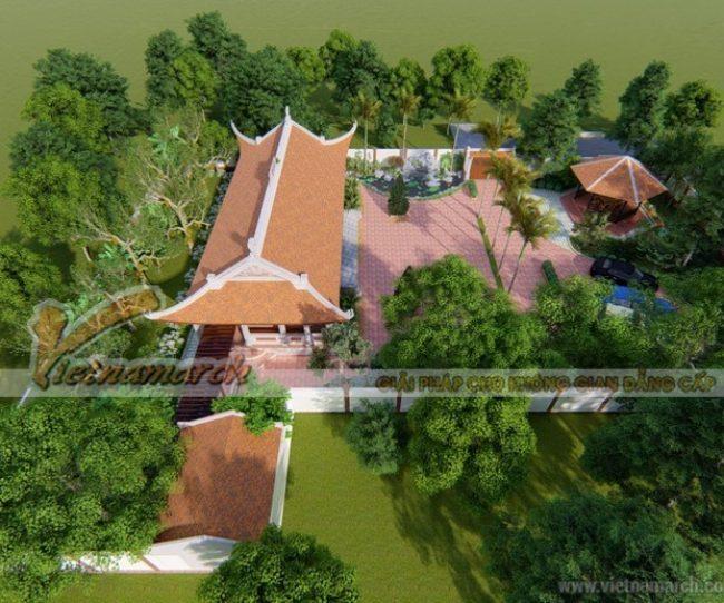 Mẫu nhà thờ tổ 5 gian truyền thống tại Đông Hưng – Thái Bình