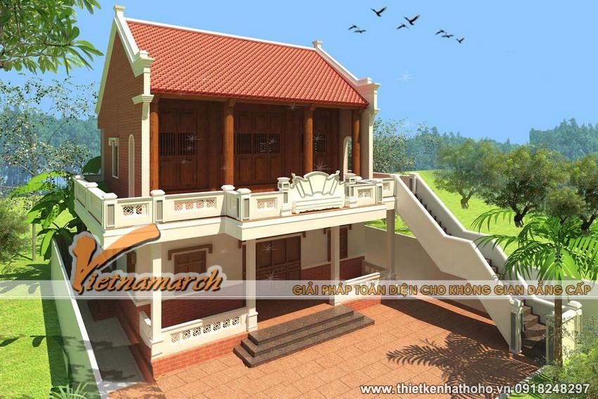 Tầng 1 và cầu thang bộ được thiết kế đơn giản nhưng đẹp mắt và khang trang