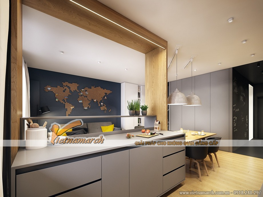Căn bếp đơn giản với những nội thất giản đơn nhưng lịch lãm vô cùng