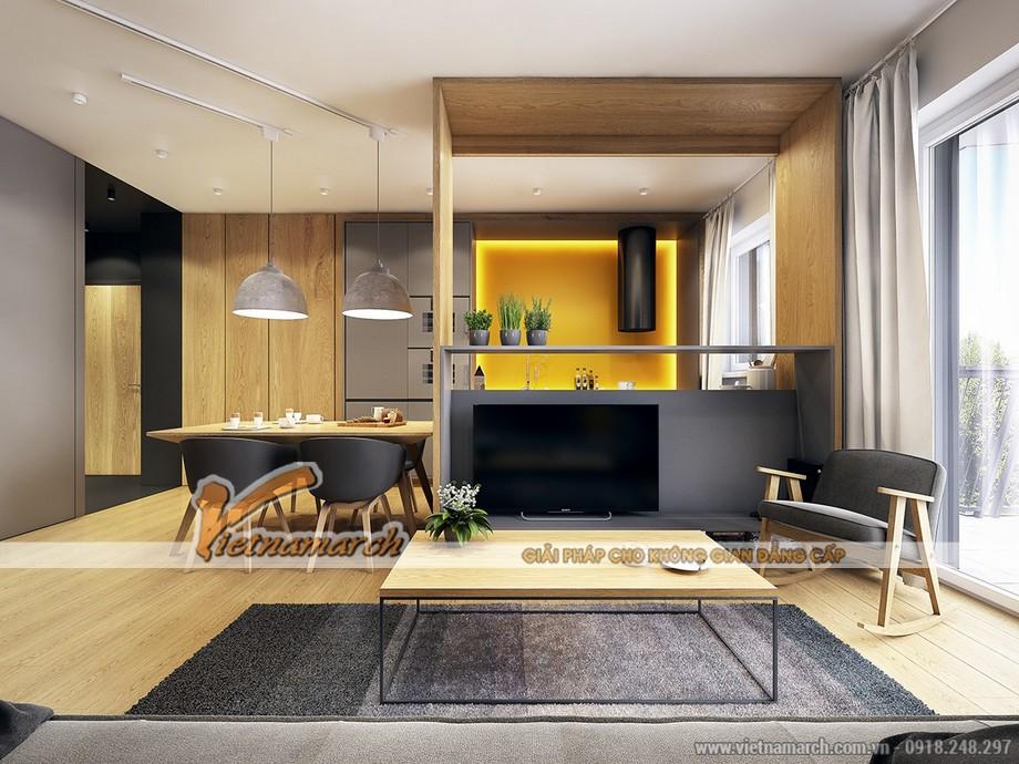 Thiết kế nội thất phòng khách đơn giản nhưng độc đáo trong cảm hứng Scandiniava