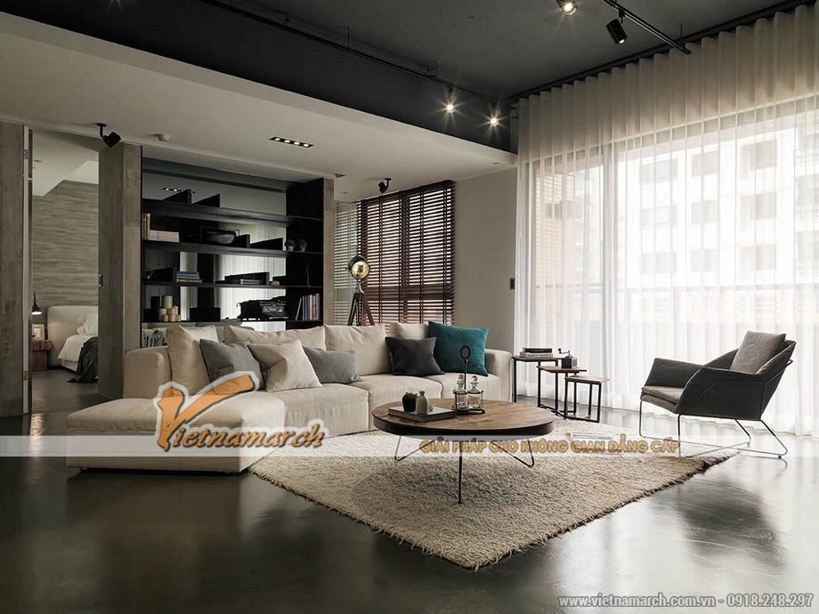 Phòng khách được thiết kế với nội thất mỏng manh nhưng đầy cá tính mạnh mẽ