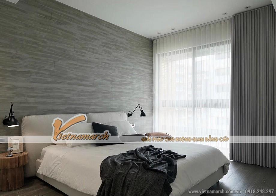Thiết kế phòng ngủ đơn giản trong thế giới đơn sắc màu