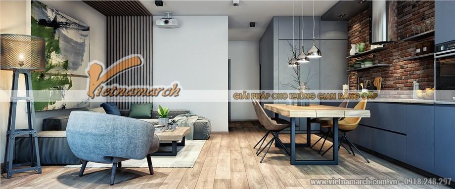 Thiết kế nội thất phòng khách theo chủ đề đơn giản - tối ưu