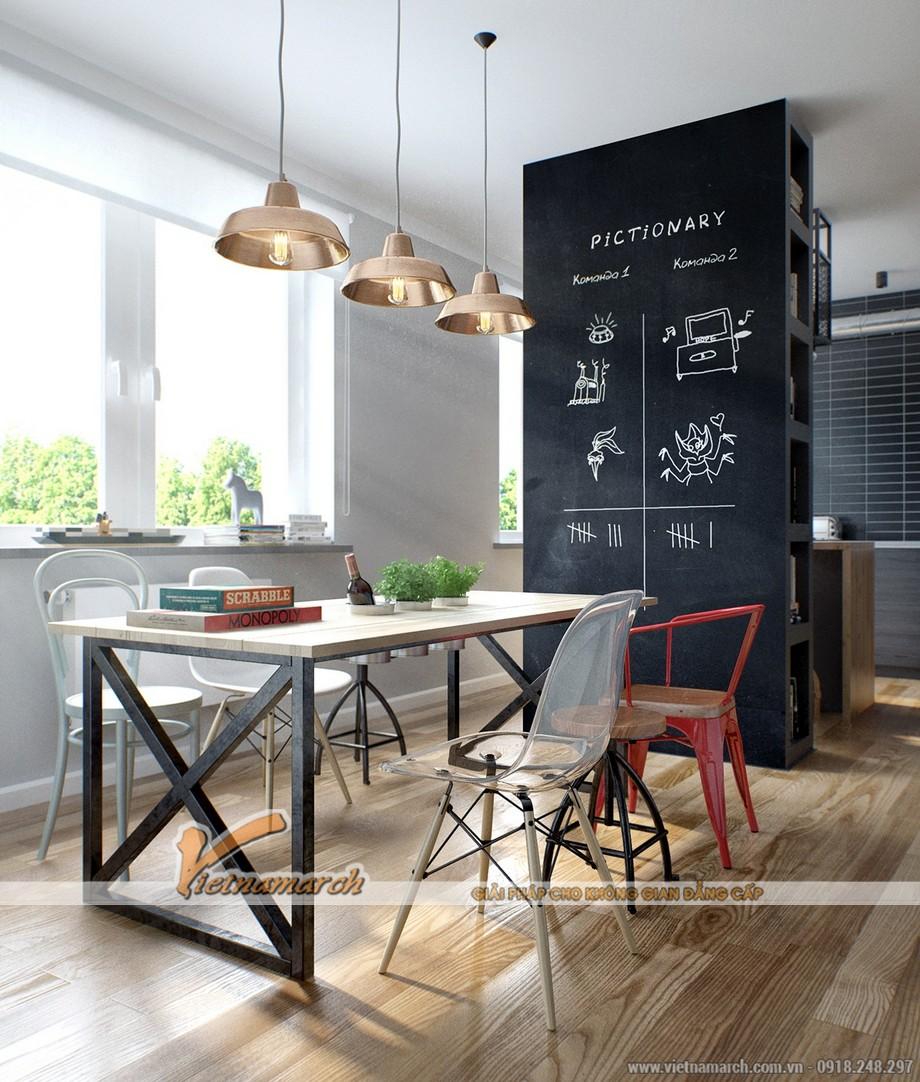Thiết kế nội thất bàn ăn mộc mạc, thanh mảnh và nhẹ nhàng