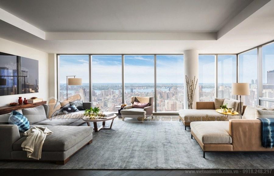 Thiết kế nội thất chung cư căn hộ penthouse tòa T15 chung cư Times City với không gian rộng mở