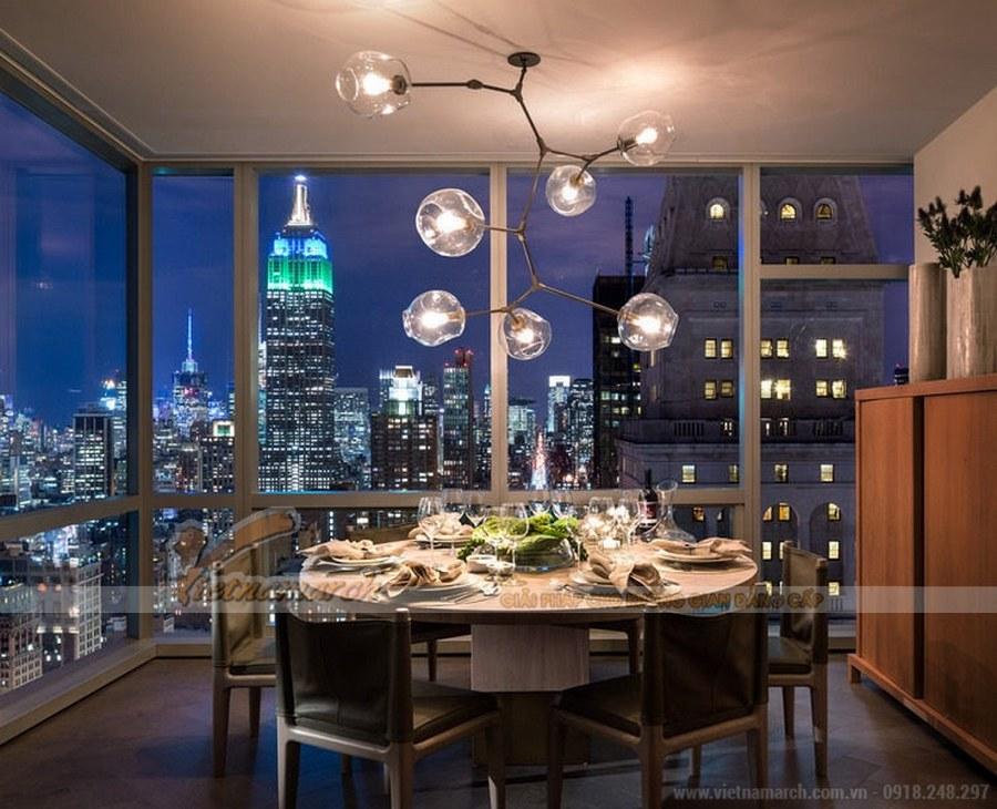 Thiết kế nội thất không gian phòng ăn hiện đại và đầm ấm