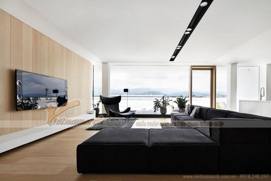 Bộ sofa dài, rộng cho bạn dễ dàng nghỉ ngơi, thư giãn và tận hưởng những chương trình yêu thích