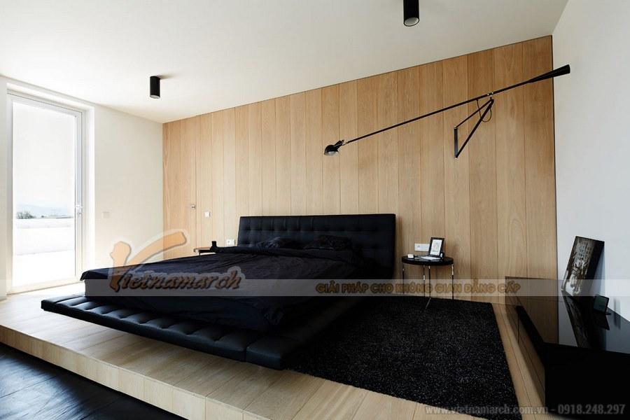 Gam màu đen trong thiết kế nội thất phòng ngủ mang đến không gian sâu lắng và hiện đại