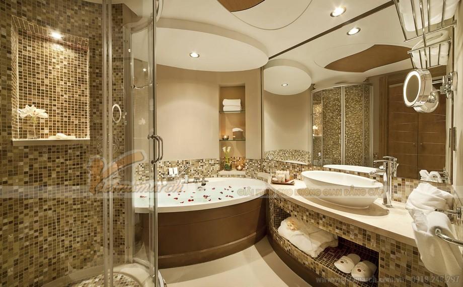 Phòng tắm sang trọng tại chung cư cao cấp Tân Hoàng Minh