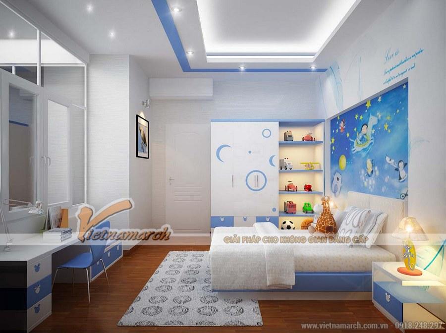 Phòng ngủ của trẻ sạch sẽ, ngăn nắp - Thiết kế nội thất căn hộ 02 Park 5 chung cư Park Hill