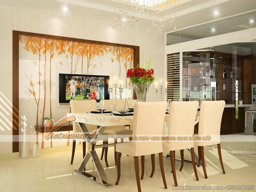 Phòng ăn đẹp thoáng rộng