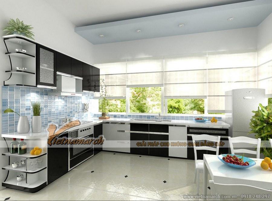 Không gian xanh mang đến không gian bếp, phòng ăn tràn đầy sắc màu và sức sống