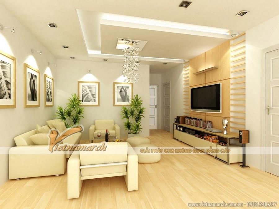 Thiết kế nội thất phòng khách chung cư Park Hill với phong cách hiện đại, sang trọng