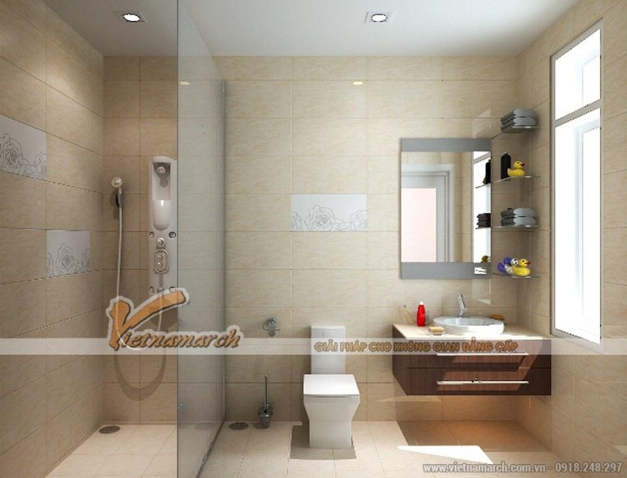 Phòng tắm tiện nghi, hiện đại với những chi tiết nhỏ độc đáo, thú vị
