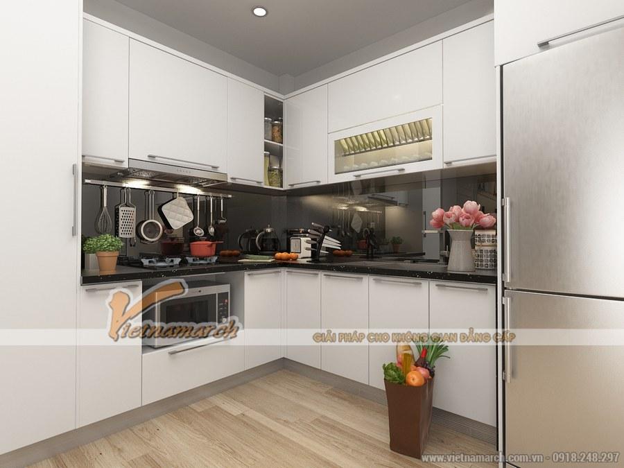 Phòng bếp nhỏ gọn nhưng đầy đủ tiện nghi và hiện đại