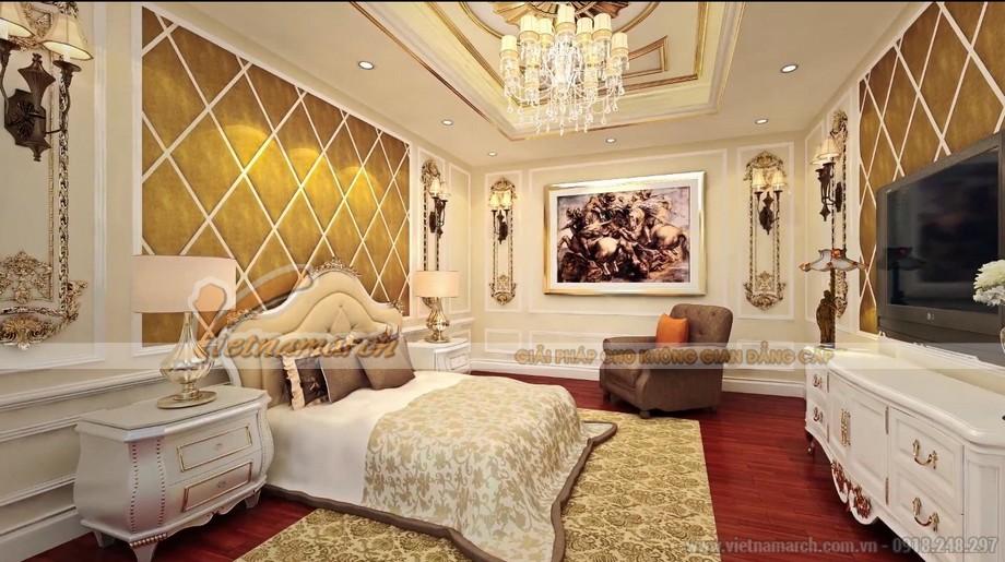 Thiết kế phòng ngủ cao cấp tại chung cư Tân Hoàng Minh