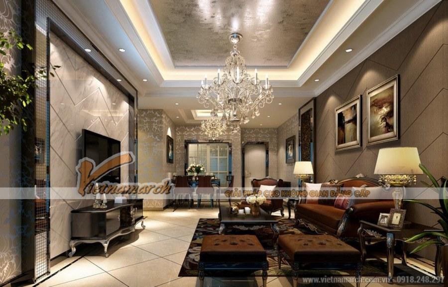 Sự kết hợp hài hòa phong cách cổ điển và hiện đại trong thiết kế nội thất chung cư Tân Hoàng Minh