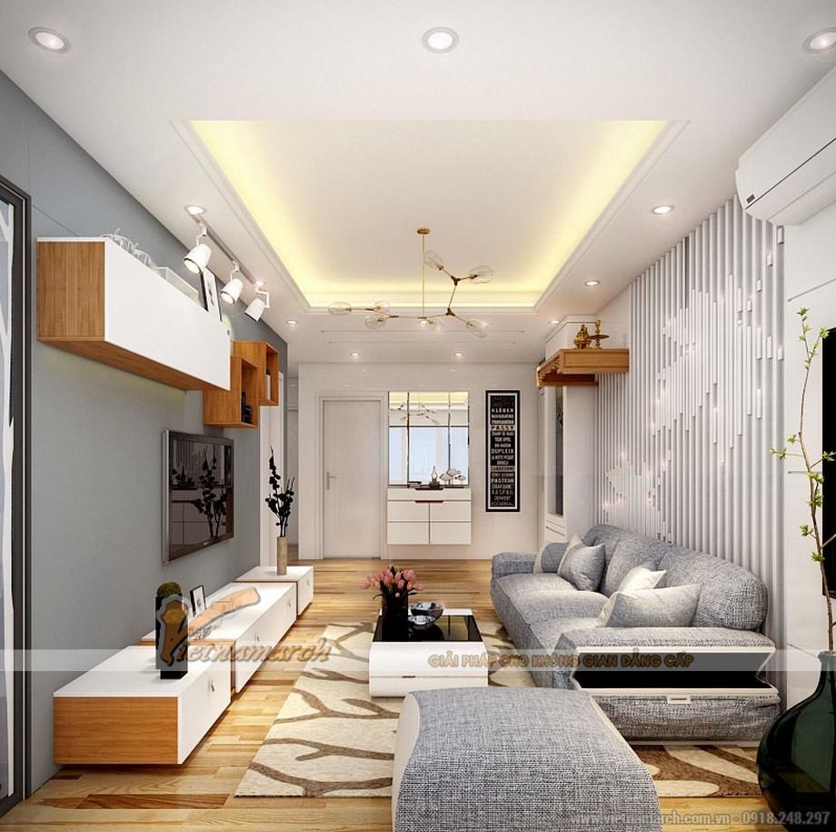 Thiết kế nội thất phòng khách đơn giản mà tinh tế.