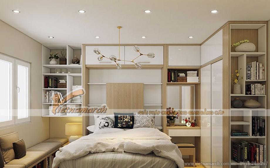 Phòng ngủ được thiết kế tiện nghi