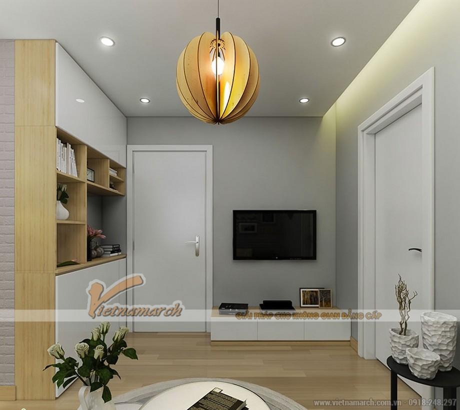 Thiết kế tông màu tươi sáng nhưng vẫn tạo ra sự ấm cúng cho căn hộ.
