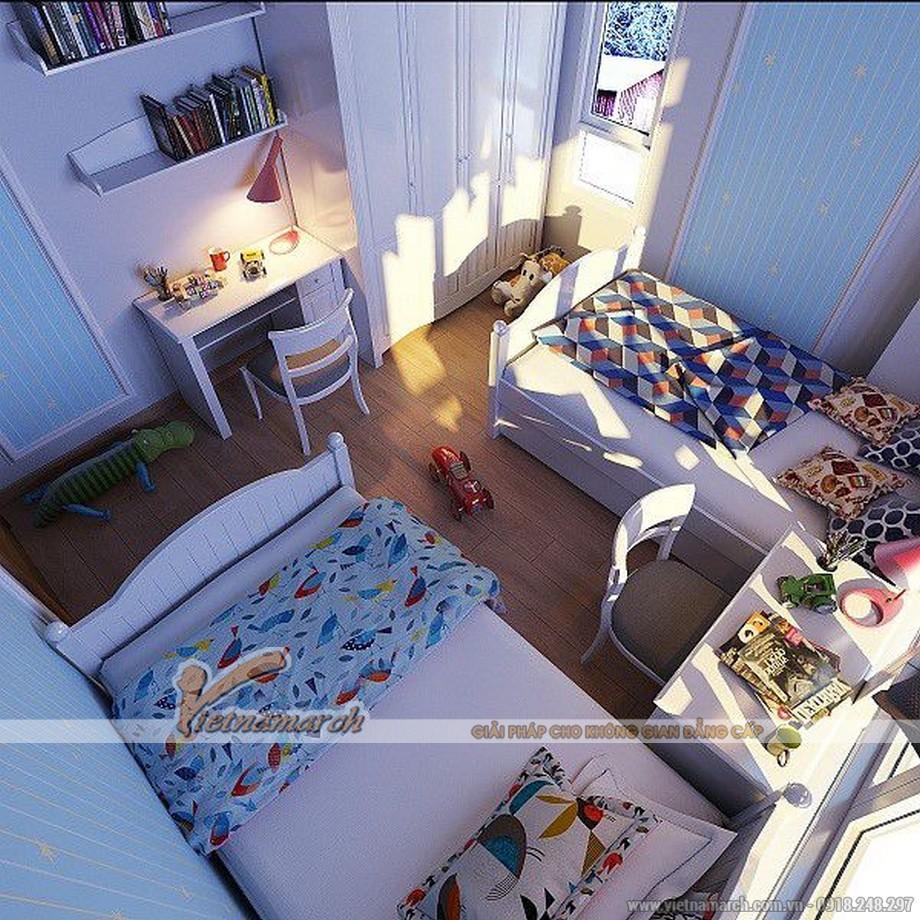 Thiết kế phòng ngủ nhỏ nhiều màu sắc để phù hơp với tính cách của con trẻ