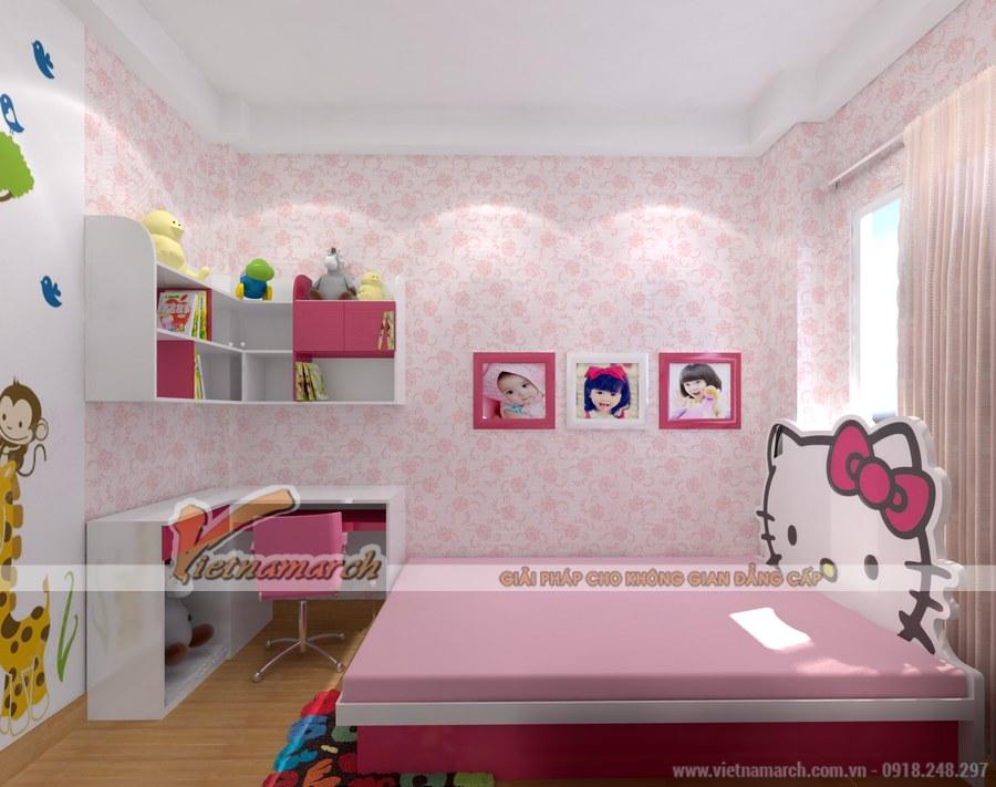 Phòng ngủ nhỏ nhưng có đầy đủ các chức năng: nghỉ ngơi, vui chơi, học tập