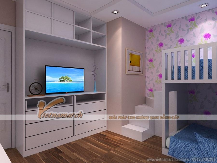 Thiết kế nội thất phòng ngủ cho trẻ đảm bảo sự an toàn để trẻ có điều kiện vui chơi, phát triển toàn diện