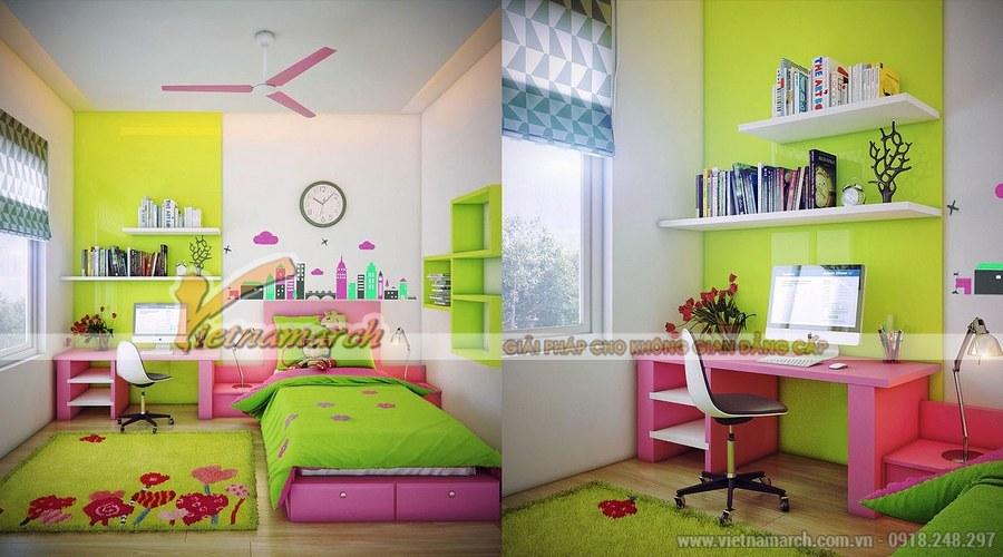 Góc học tập cần đảm bảo đủ ánh sáng và thiết kế phù hợp với không gian căn phòng