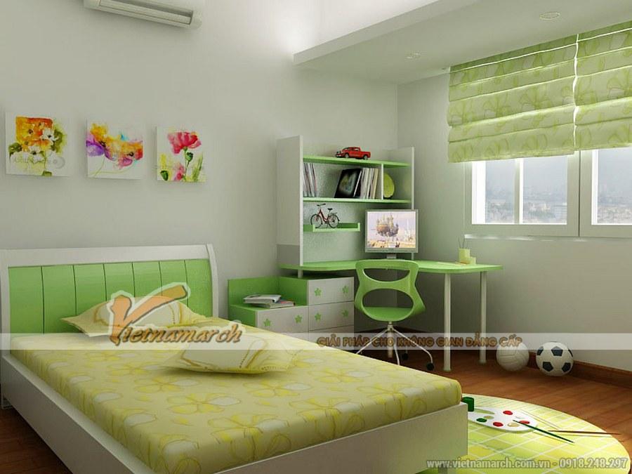 Nội thất phòng ngủ cho trẻ với đầy đủ các tiện ích với các đồ vật khả dụng