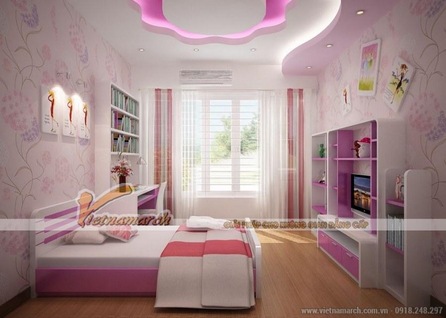 Phòng ngủ của trẻ cần được sắp xếp, bố trí sao cho không gian thoáng, rộng