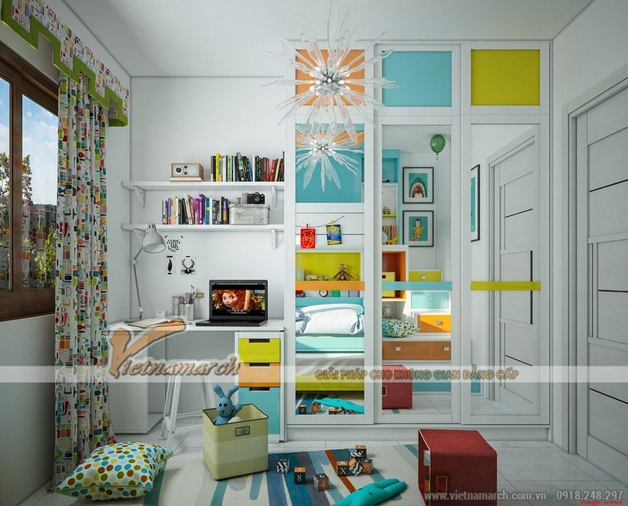 Phòng của trẻ dù nhỏ hay lớn luôn có góc vui chơi để trẻ thư giãn và phát triển toàn diện