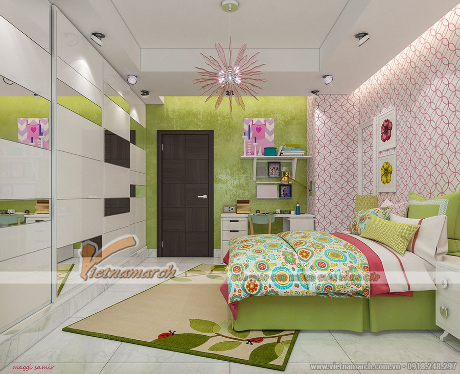 Thiết kế nội thất phòng ngủ cho trẻ sáng tạo, độc đáo