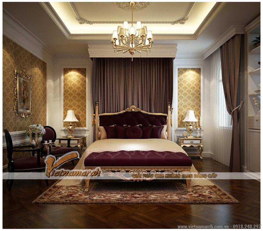 Thiết kế nội thất phòng ngủ theo phong cách cổ điển, sang trọng